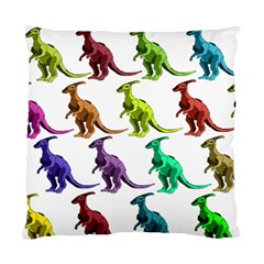 Multicolor Dinosaur Background Standard Cushion Case (One Side)