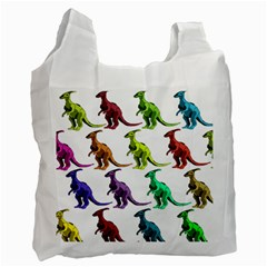 Multicolor Dinosaur Background Recycle Bag (one Side)