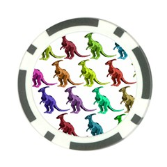 Multicolor Dinosaur Background Poker Chip Card Guard (10 pack)