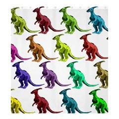 Multicolor Dinosaur Background Shower Curtain 66  X 72  (large)