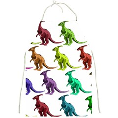 Multicolor Dinosaur Background Full Print Aprons