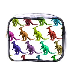 Multicolor Dinosaur Background Mini Toiletries Bags