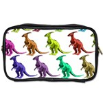 Multicolor Dinosaur Background Toiletries Bags 2-Side Front