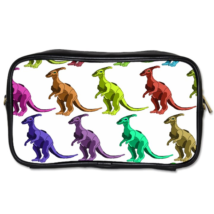Multicolor Dinosaur Background Toiletries Bags 2-Side
