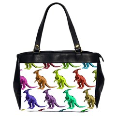 Multicolor Dinosaur Background Office Handbags (2 Sides)