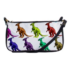 Multicolor Dinosaur Background Shoulder Clutch Bags