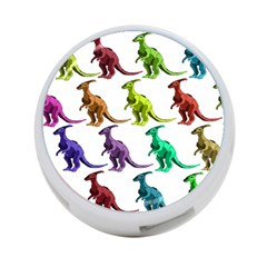 Multicolor Dinosaur Background 4 Port Usb Hub (two Sides)