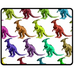 Multicolor Dinosaur Background Fleece Blanket (medium)
