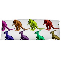 Multicolor Dinosaur Background Body Pillow Case (Dakimakura)