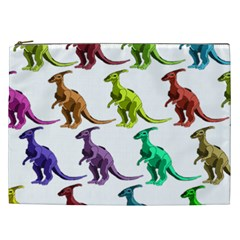 Multicolor Dinosaur Background Cosmetic Bag (xxl)