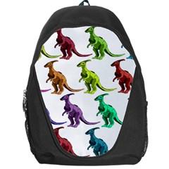 Multicolor Dinosaur Background Backpack Bag