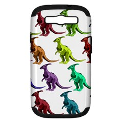 Multicolor Dinosaur Background Samsung Galaxy S Iii Hardshell Case (pc+silicone)