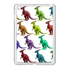 Multicolor Dinosaur Background Apple Ipad Mini Case (white)