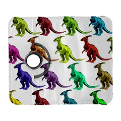 Multicolor Dinosaur Background Galaxy S3 (flip/folio)
