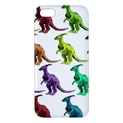 Multicolor Dinosaur Background Apple Iphone 5 Premium Hardshell Case