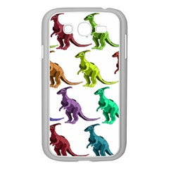 Multicolor Dinosaur Background Samsung Galaxy Grand DUOS I9082 Case (White)