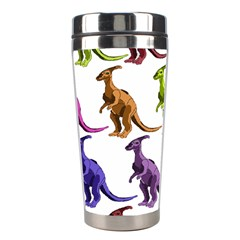 Multicolor Dinosaur Background Stainless Steel Travel Tumblers