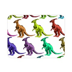 Multicolor Dinosaur Background Double Sided Flano Blanket (Mini)