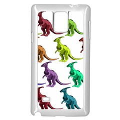 Multicolor Dinosaur Background Samsung Galaxy Note 4 Case (white)