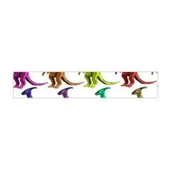 Multicolor Dinosaur Background Flano Scarf (mini)