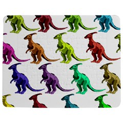Multicolor Dinosaur Background Jigsaw Puzzle Photo Stand (Rectangular)