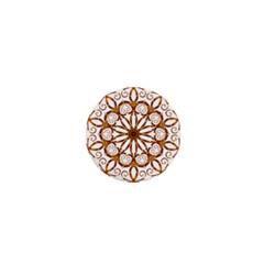 Golden Filigree Flake On White 1  Mini Magnets