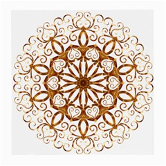 Golden Filigree Flake On White Medium Glasses Cloth (2 Side)