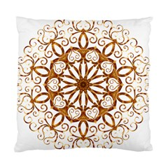 Golden Filigree Flake On White Standard Cushion Case (two Sides)