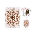Golden Filigree Flake On White Playing Cards (Mini)  Back