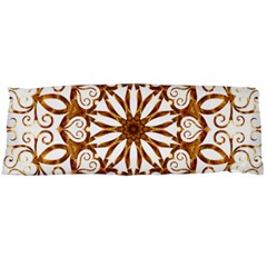 Golden Filigree Flake On White Body Pillow Case Dakimakura (Two Sides)