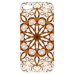Golden Filigree Flake On White Apple Iphone 5 Hardshell Case
