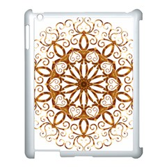 Golden Filigree Flake On White Apple Ipad 3/4 Case (white)