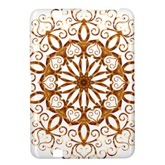 Golden Filigree Flake On White Kindle Fire HD 8.9