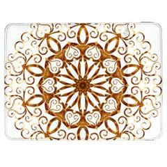 Golden Filigree Flake On White Samsung Galaxy Tab 7  P1000 Flip Case