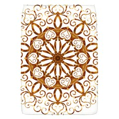 Golden Filigree Flake On White Flap Covers (s)