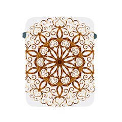 Golden Filigree Flake On White Apple iPad 2/3/4 Protective Soft Cases
