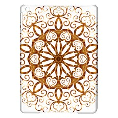 Golden Filigree Flake On White Ipad Air Hardshell Cases