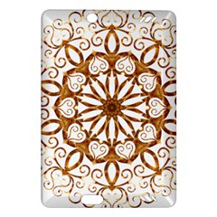 Golden Filigree Flake On White Amazon Kindle Fire Hd (2013) Hardshell Case