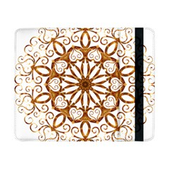 Golden Filigree Flake On White Samsung Galaxy Tab Pro 8.4  Flip Case