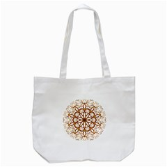 Golden Filigree Flake On White Tote Bag (white)