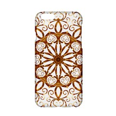 Golden Filigree Flake On White Apple iPhone 6/6S Hardshell Case