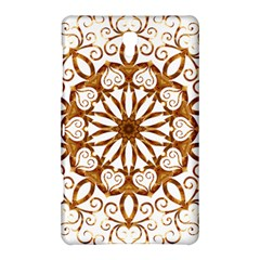 Golden Filigree Flake On White Samsung Galaxy Tab S (8 4 ) Hardshell Case