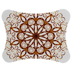 Golden Filigree Flake On White Jigsaw Puzzle Photo Stand (bow)