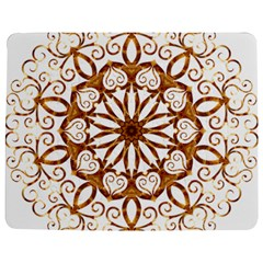 Golden Filigree Flake On White Jigsaw Puzzle Photo Stand (rectangular)
