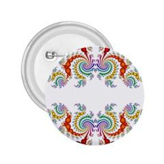 Fractal Kaleidoscope Of A Dragon Head 2.25  Buttons