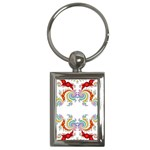 Fractal Kaleidoscope Of A Dragon Head Key Chains (Rectangle)  Front