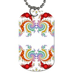 Fractal Kaleidoscope Of A Dragon Head Dog Tag (One Side)