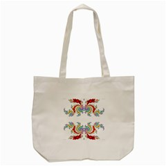 Fractal Kaleidoscope Of A Dragon Head Tote Bag (Cream)