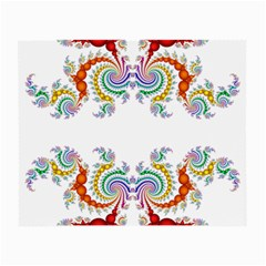 Fractal Kaleidoscope Of A Dragon Head Small Glasses Cloth