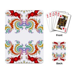 Fractal Kaleidoscope Of A Dragon Head Playing Card